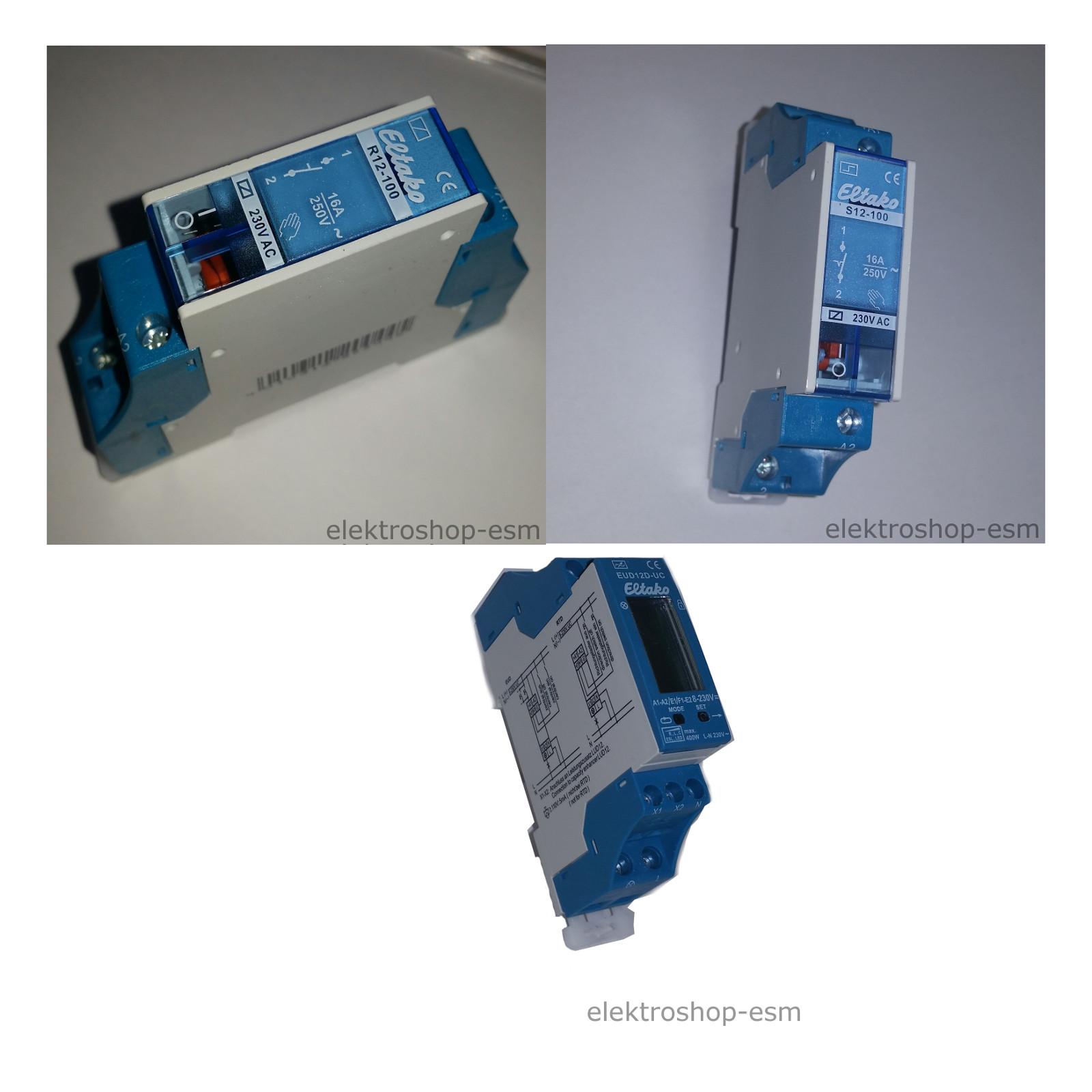 Eltako Stromstoßschalter Schaltrelais 1 Schließer 12VAC oder 230VAC